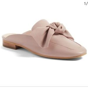 BP Maddy blush pink mules with bow sz 10